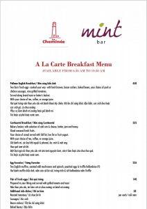 Breakfast Menu - 1